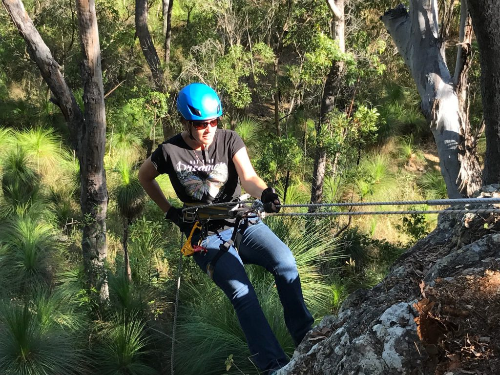Abseiling is a popular activity at Seaforth Pines